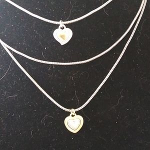 Brighton double heart layered necklace